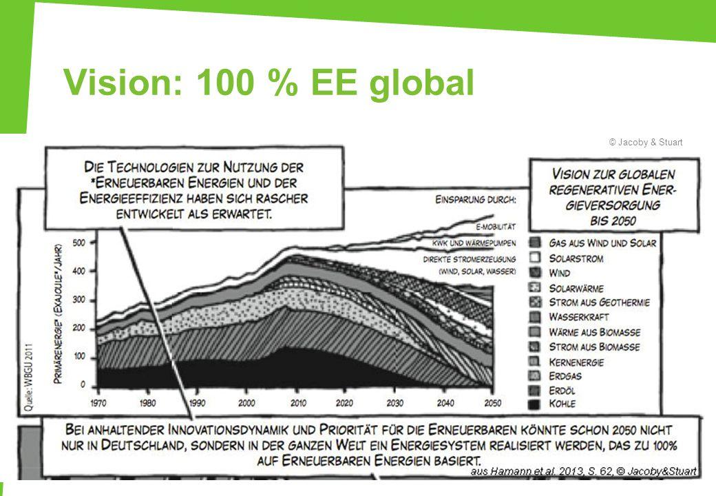Vision: 100 % EE global Vision zur globalen erneuerbaren Energieversorgung bis 2050 – WBGU. © Jacoby & Stuart.