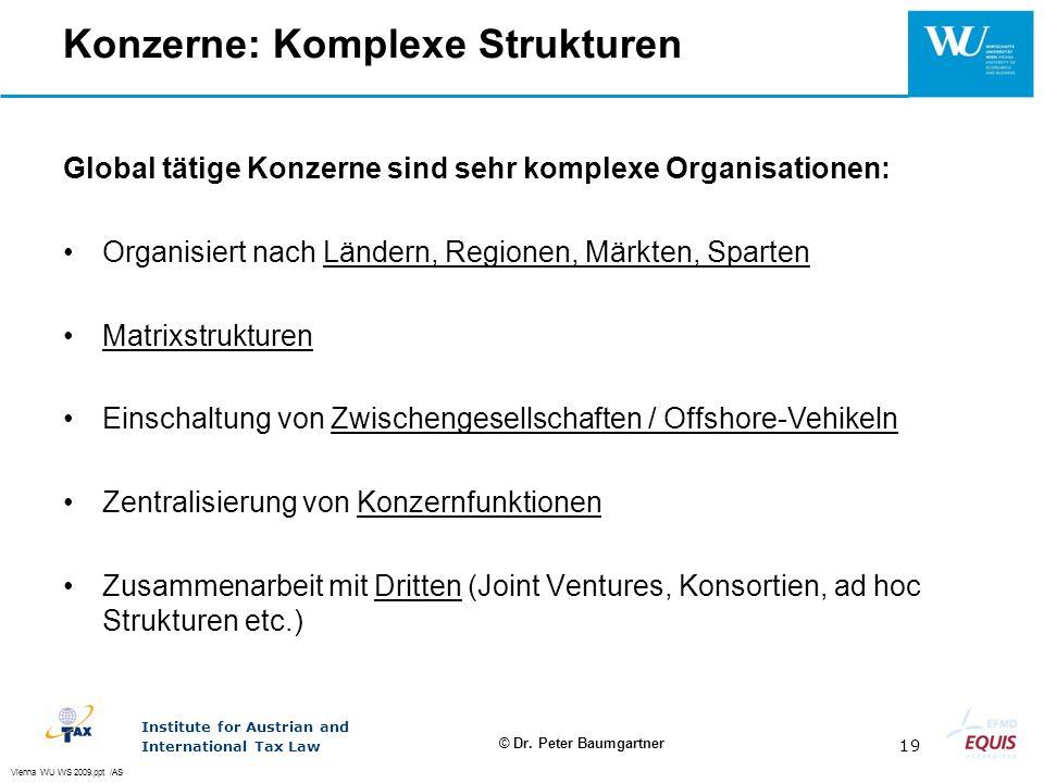 Konzerne: Komplexe Strukturen