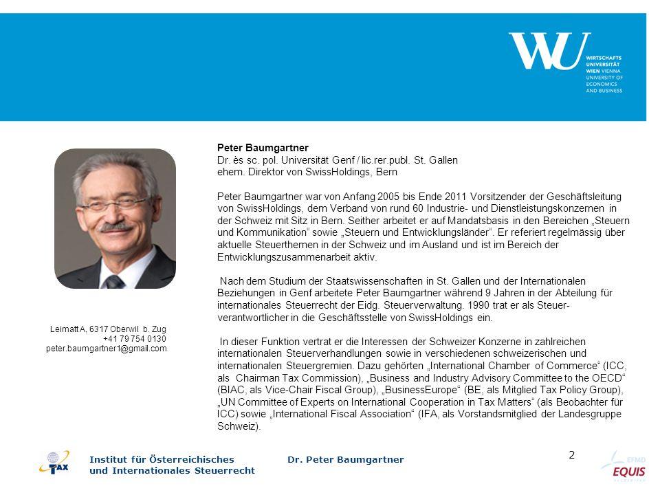 Dr. ès sc. pol. Universität Genf / lic.rer.publ. St. Gallen