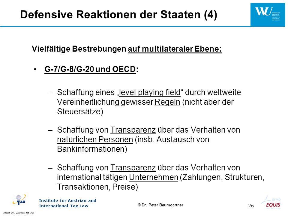 Vielfältige Bestrebungen auf multilateraler Ebene: