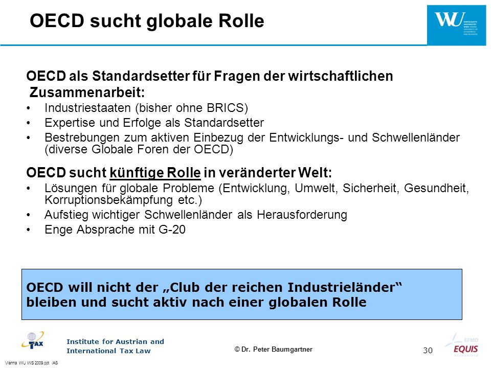 OECD sucht globale Rolle