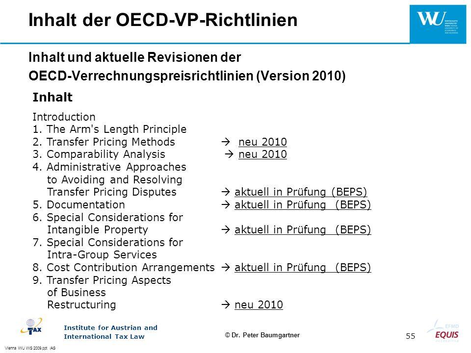 Inhalt der OECD-VP-Richtlinien