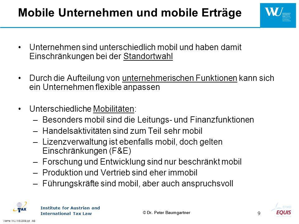 Mobile Unternehmen und mobile Erträge