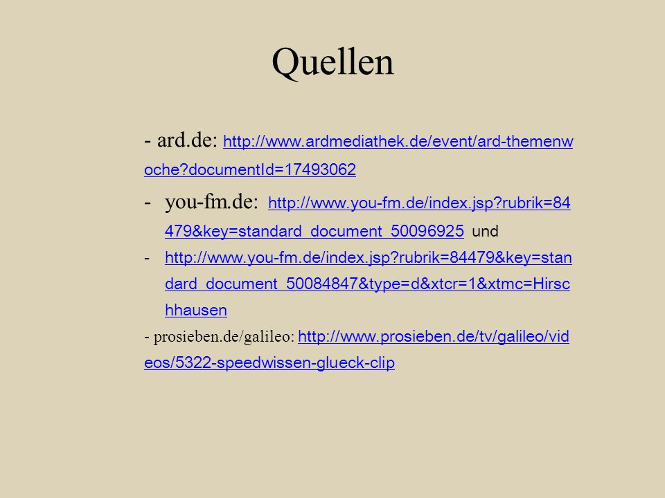 Quellen - ard.de: http://www.ardmediathek.de/event/ard-themenwoche documentId=17493062.