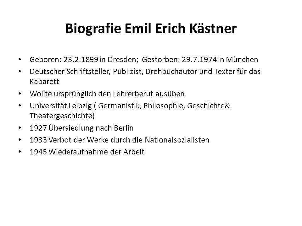 Biografie Emil Erich Kästner