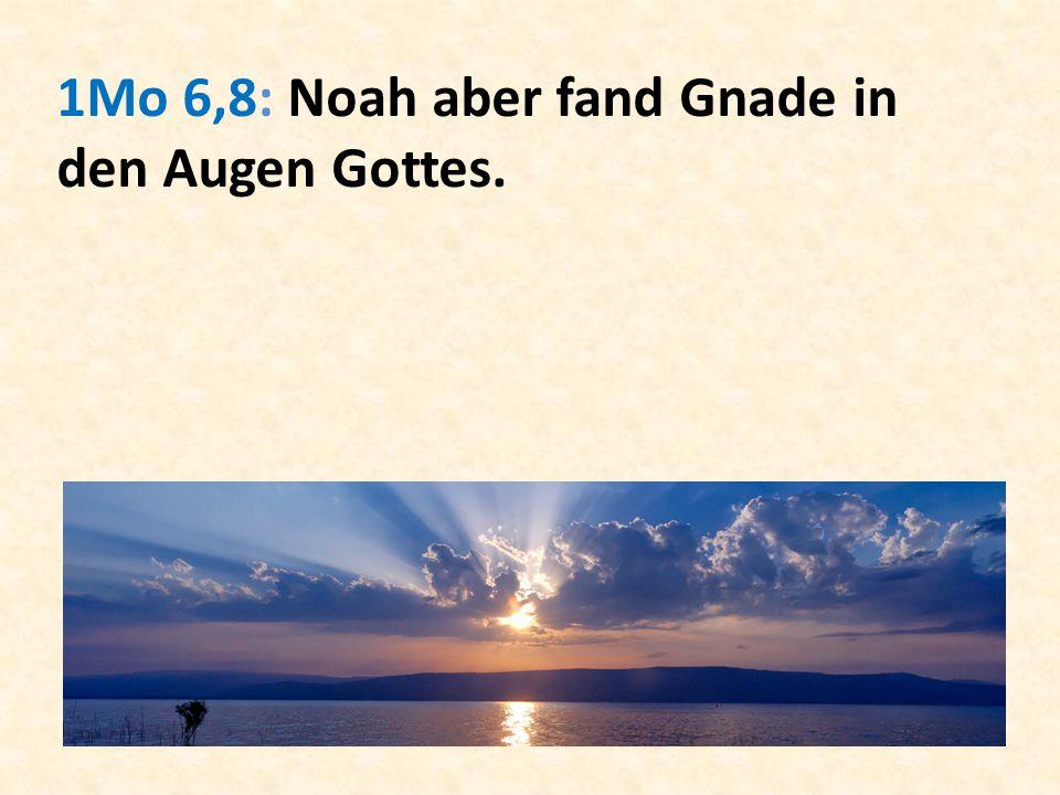 1Mo 6,8: Noah aber fand Gnade in den Augen Gottes.