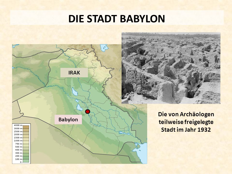 Die von Archäologen teilweise freigelegte Stadt im Jahr 1932