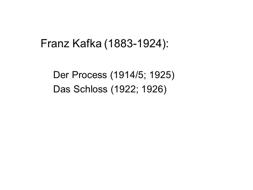 Franz Kafka (1883-1924): Der Process (1914/5; 1925)
