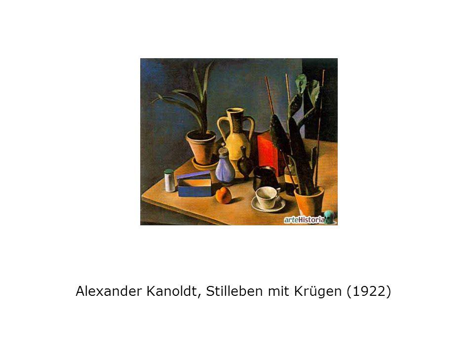 Alexander Kanoldt, Stilleben mit Krügen (1922)