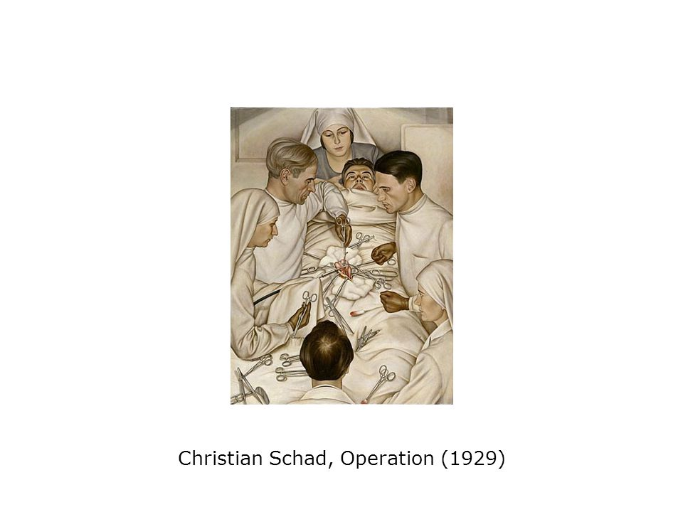 Christian Schad, Operation (1929)