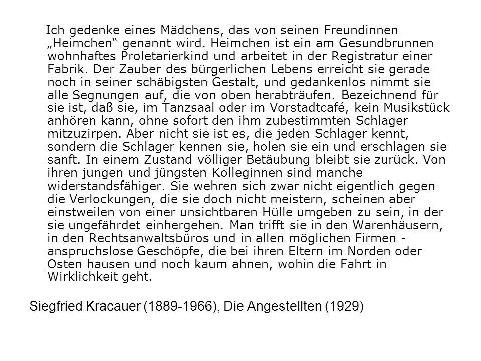 Siegfried Kracauer (1889-1966), Die Angestellten (1929)