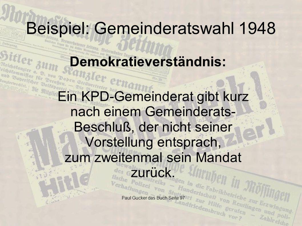 Beispiel: Gemeinderatswahl 1948