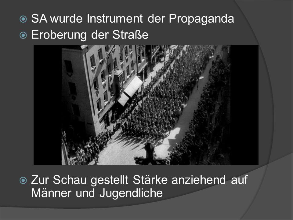 SA wurde Instrument der Propaganda