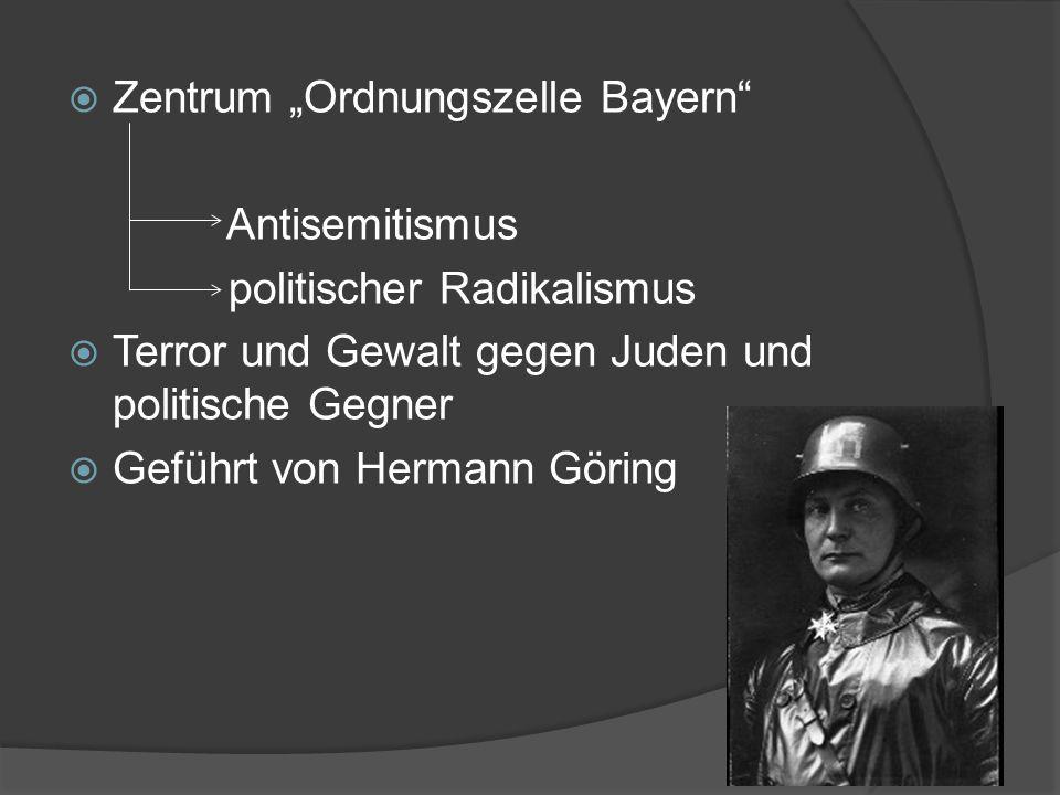 """Zentrum """"Ordnungszelle Bayern"""
