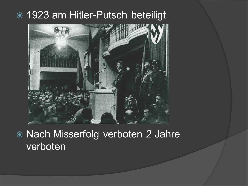 1923 am Hitler-Putsch beteiligt