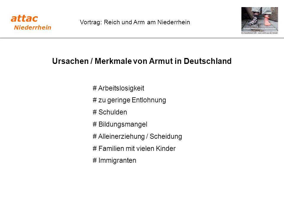 Ursachen / Merkmale von Armut in Deutschland
