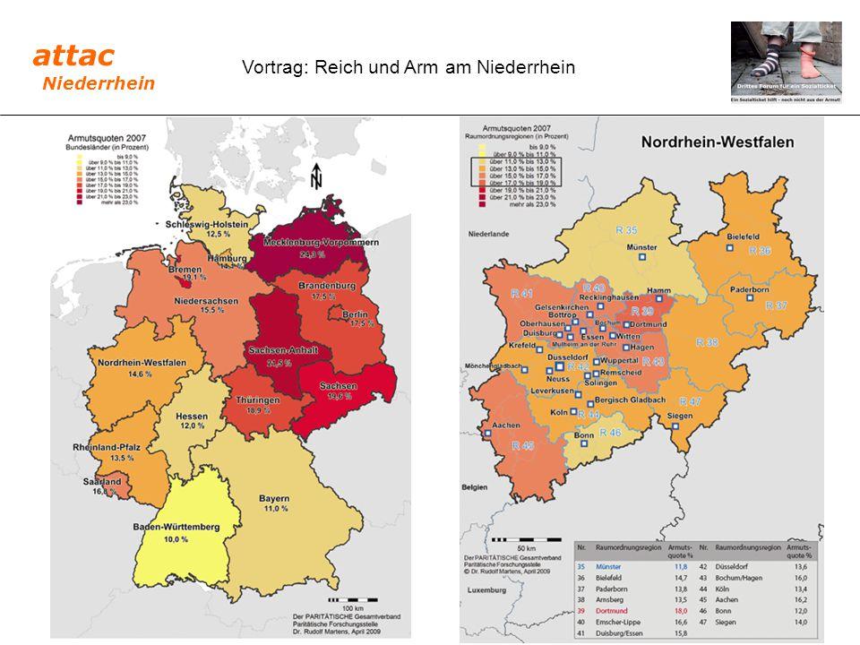 attac Niederrhein Vortrag: Reich und Arm am Niederrhein