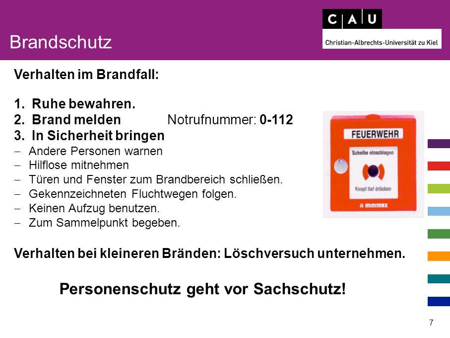Brandschutz Personenschutz geht vor Sachschutz!
