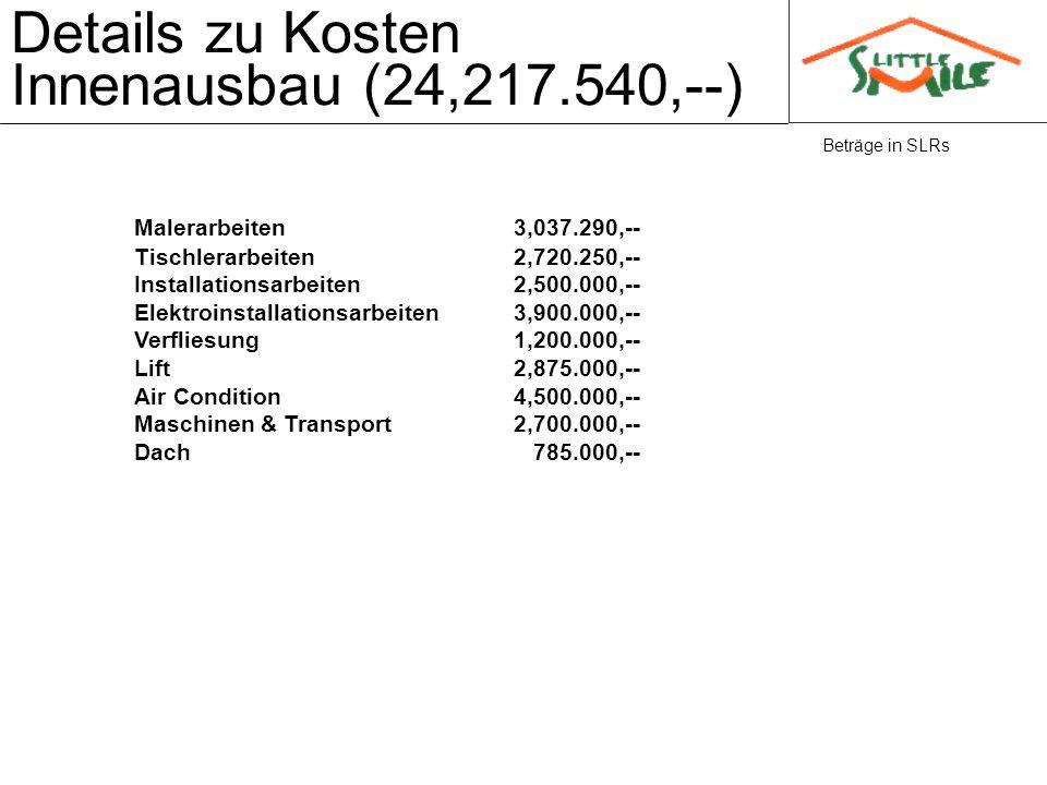 Details zu Kosten Innenausbau (24,217.540,--)