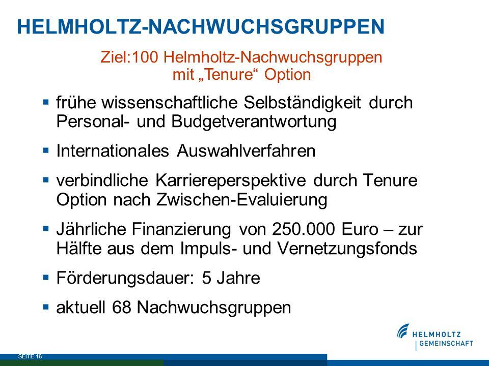 HELMHOLTZ-NACHWUCHSGRUPPEN