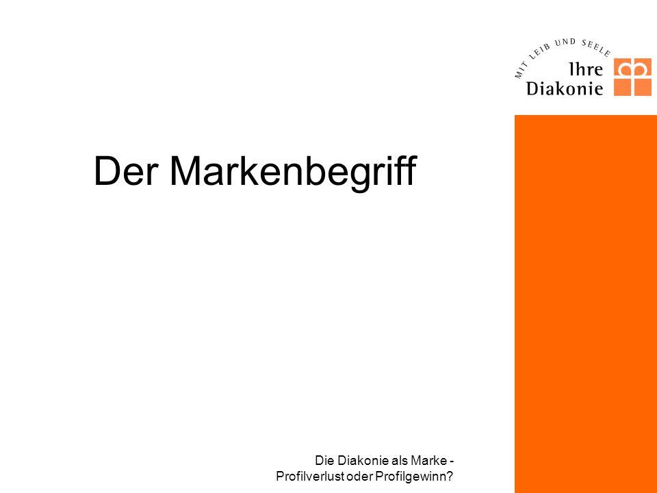 Der Markenbegriff Die Diakonie als Marke - Profilverlust oder Profilgewinn