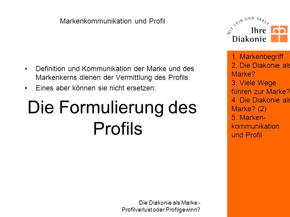 Markenkommunikation und Profil