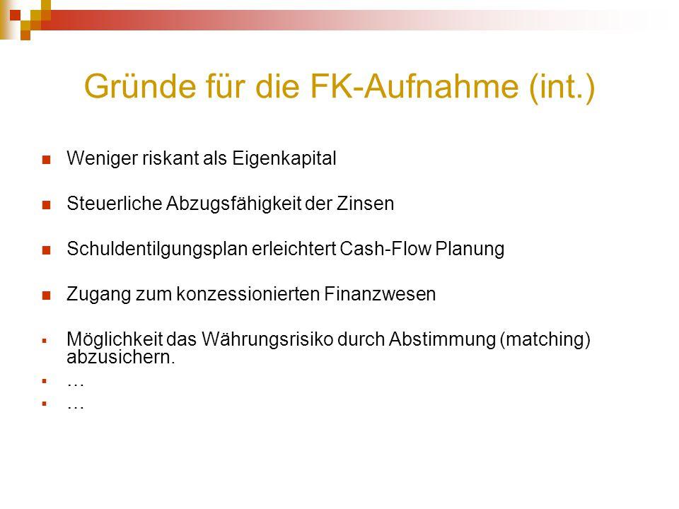 Gründe für die FK-Aufnahme (int.)