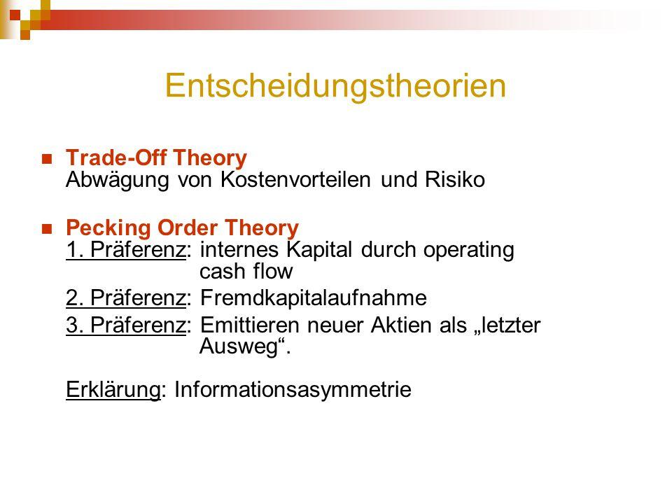 Entscheidungstheorien
