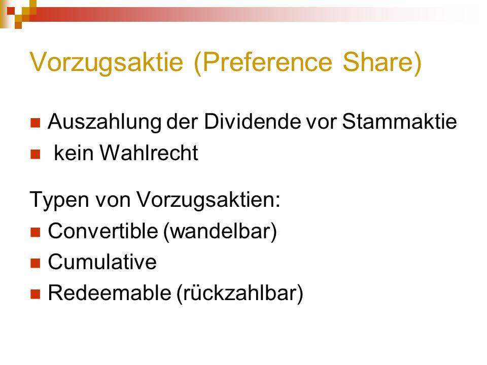 Vorzugsaktie (Preference Share)