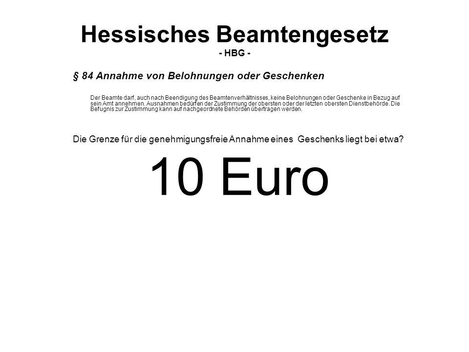 Hessisches Beamtengesetz - HBG -
