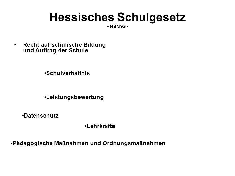 Hessisches Schulgesetz - HSchG -