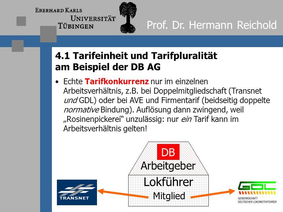 Lokführer Prof. Dr. Hermann Reichold DB Arbeitgeber