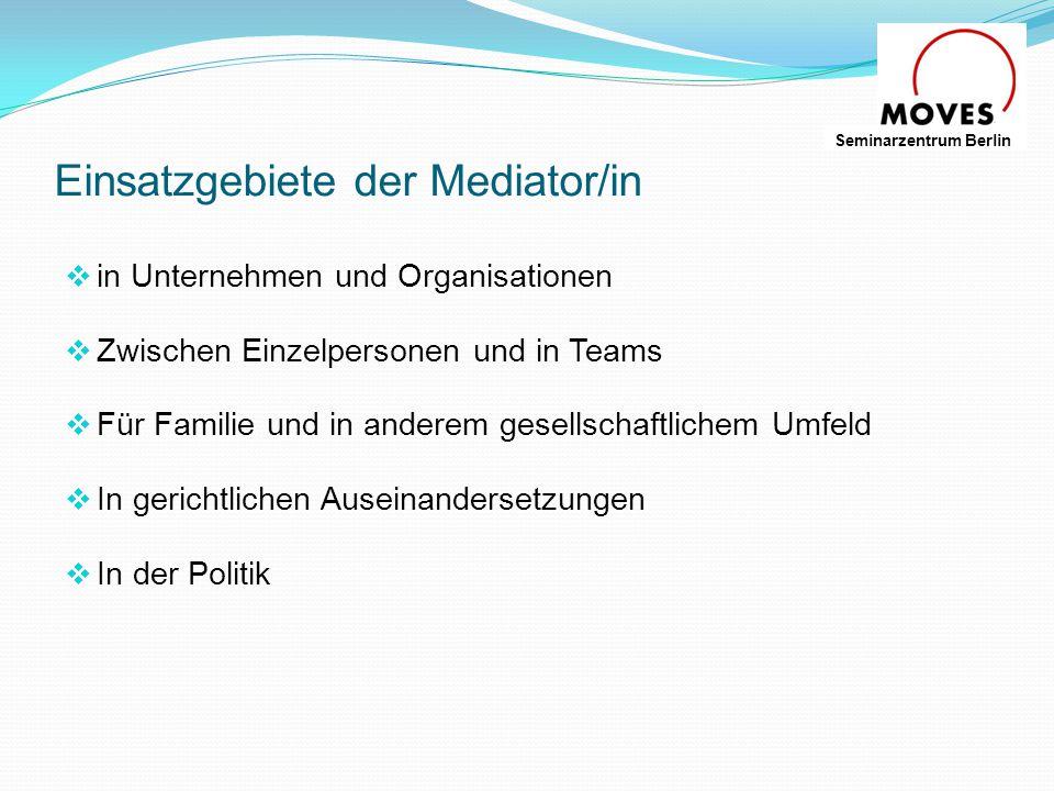 Einsatzgebiete der Mediator/in