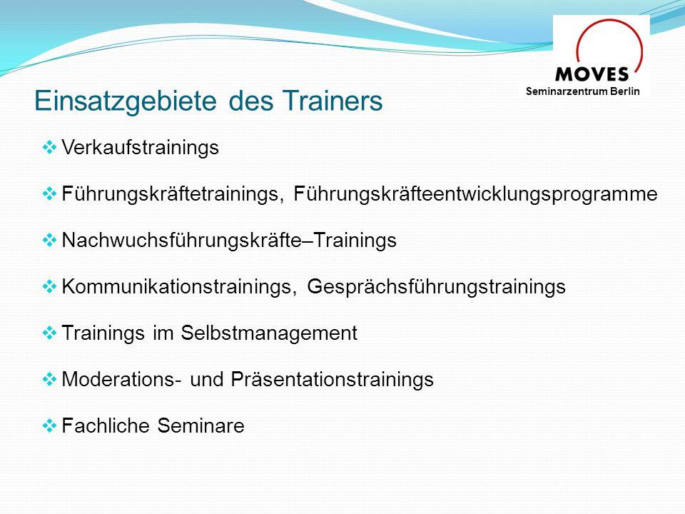 Einsatzgebiete des Trainers