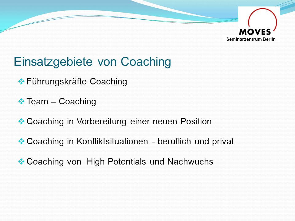 Einsatzgebiete von Coaching
