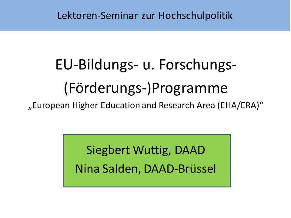 Lektoren-Seminar zur Hochschulpolitik
