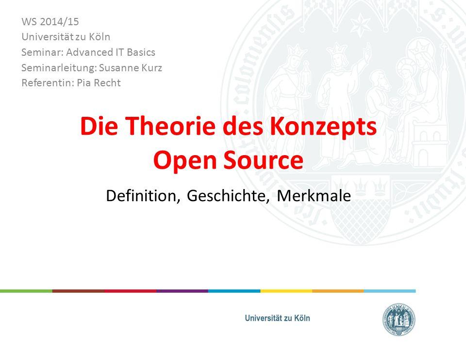 Die Theorie des Konzepts Open Source