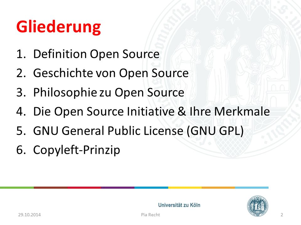 Gliederung Definition Open Source Geschichte von Open Source