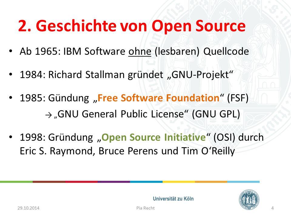 2. Geschichte von Open Source