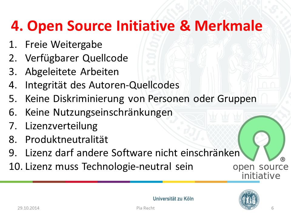4. Open Source Initiative & Merkmale