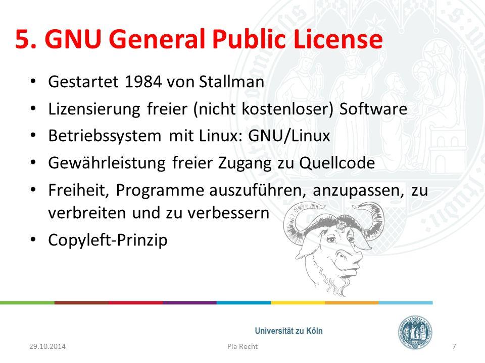 5. GNU General Public License
