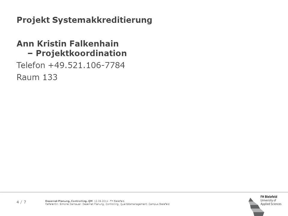 Projekt Systemakkreditierung