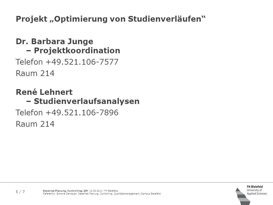 """Projekt """"Optimierung von Studienverläufen"""