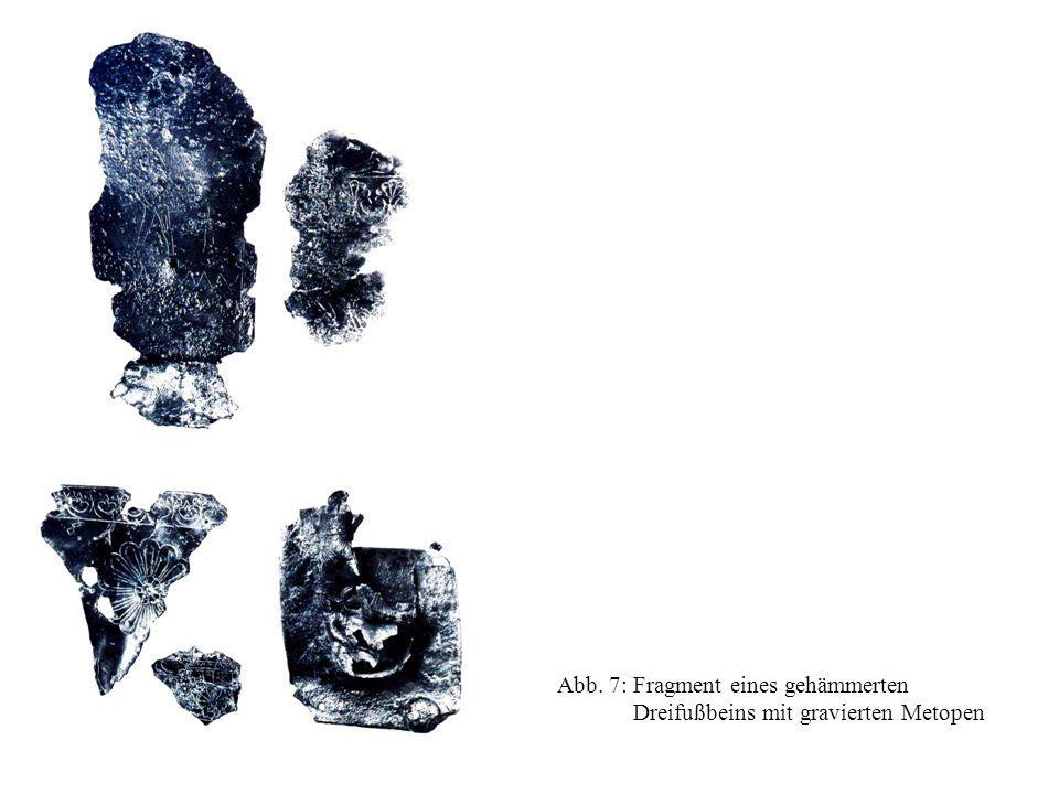 Abb. 7: Fragment eines gehämmerten