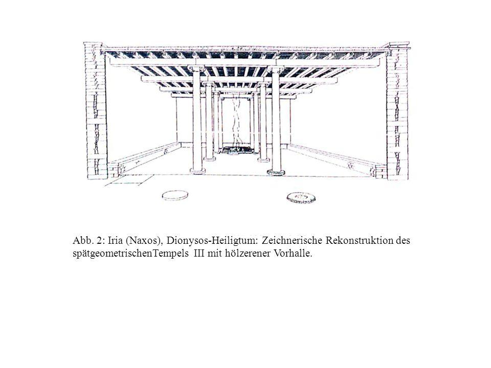Abb. 2: Iria (Naxos), Dionysos-Heiligtum: Zeichnerische Rekonstruktion des