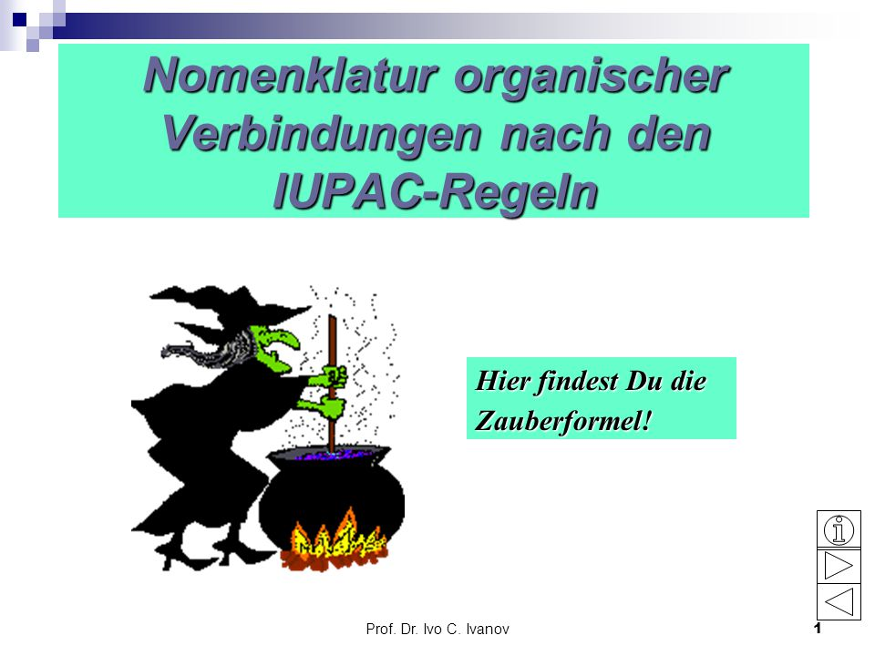 Nomenklatur organischer Verbindungen nach den IUPAC-Regeln
