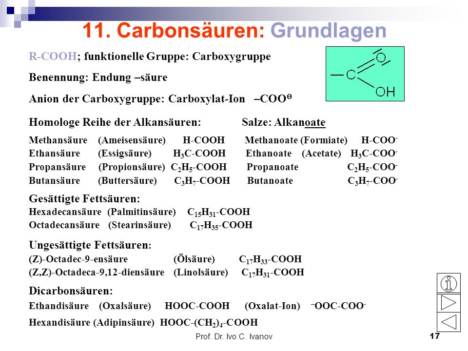 11. Carbonsäuren: Grundlagen