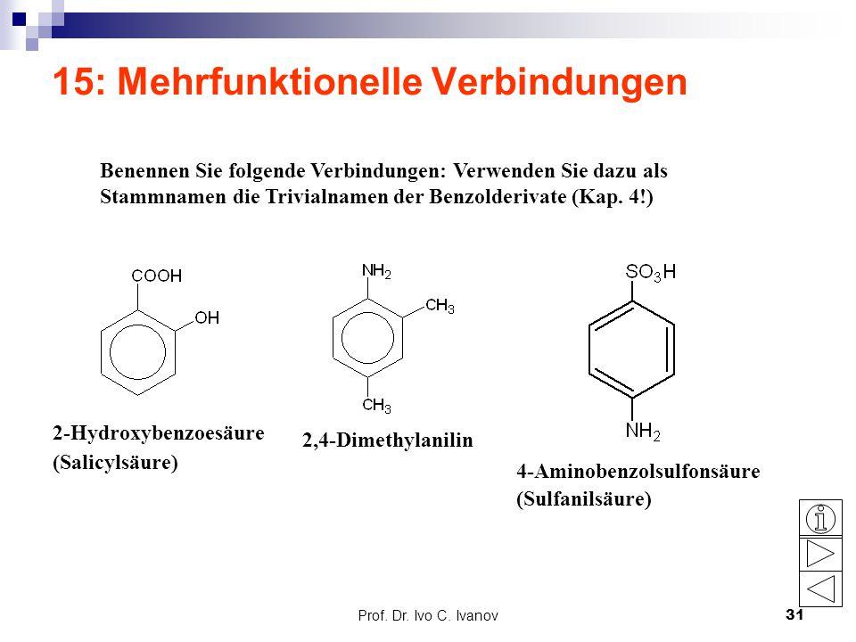 15: Mehrfunktionelle Verbindungen