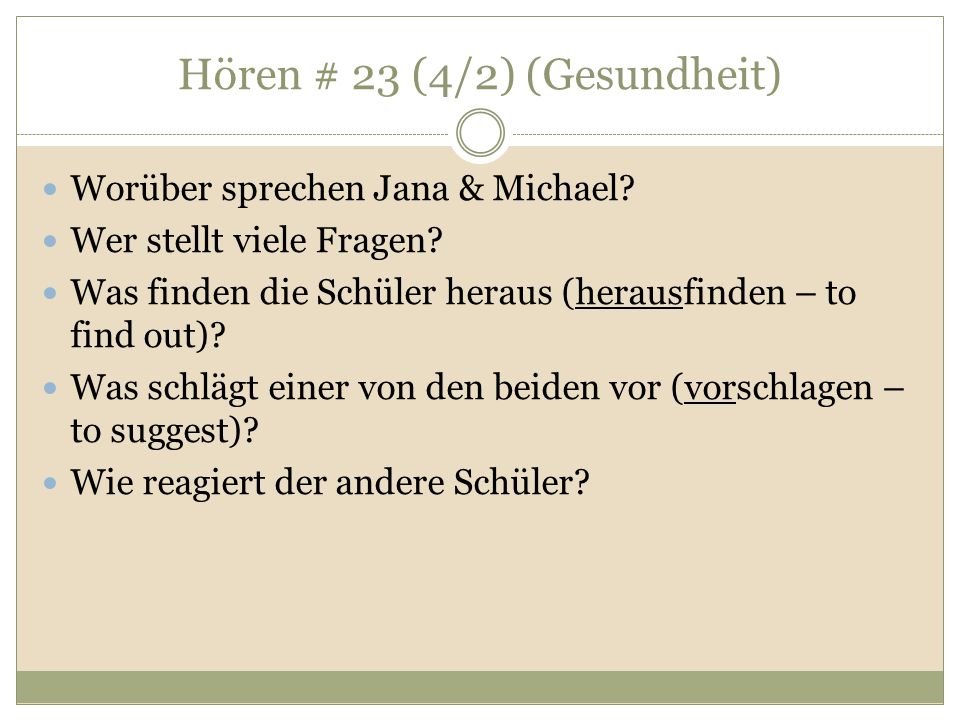 Hören # 23 (4/2) (Gesundheit)