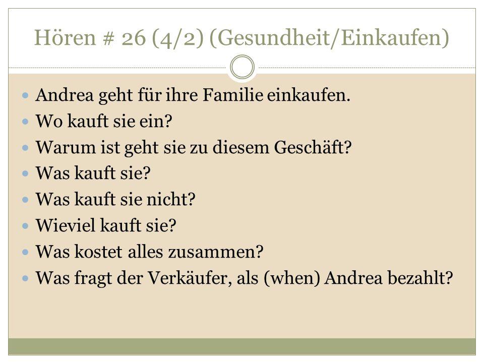 Hören # 26 (4/2) (Gesundheit/Einkaufen)